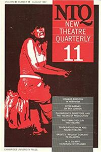 Download New Theatre Quarterly 11: Volume 3, Part 3 ePub