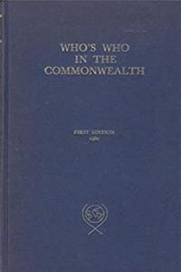 Download Who's Who in the Commonwealth ePub