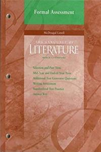 Download McDougal Littell Language of Literature: Formal Assessment World Literature ePub